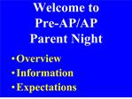 welcome to  pre-ap