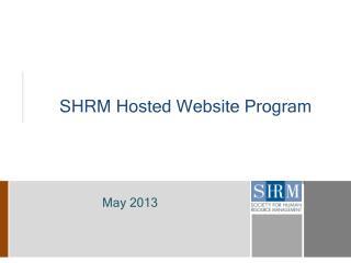 SHRM  Hosted  Website  Program