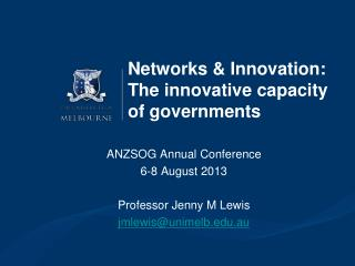 Networks & Innovation: The innovative capacity of governments