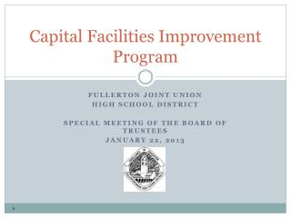 Capital Facilities Improvement Program