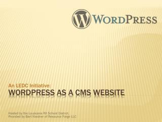 WordPress as a CMS Website