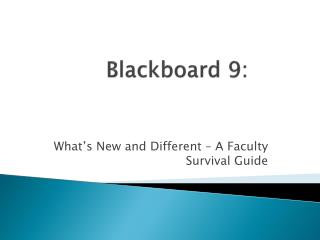 Blackboard 9: