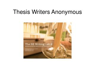 Thesis Writers Anonymous