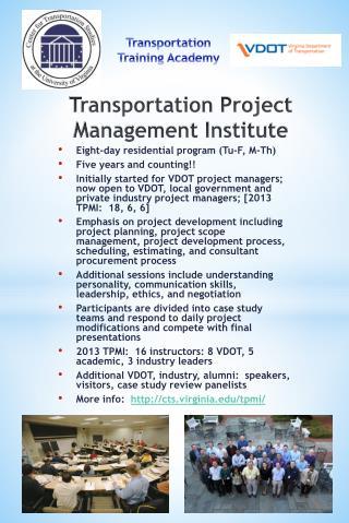 Transportation Project Management Institute