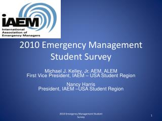2010 Emergency Management Student Survey