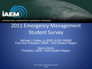2011 Emergency Management Student Survey