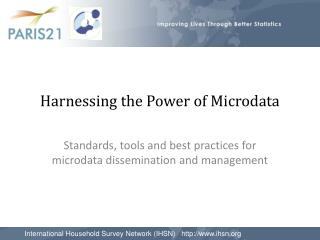 Harnessing the Power of Microdata