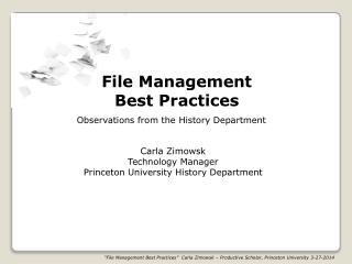 File Management Best Practices