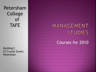 Management Studies