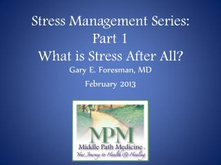 Stress Management Series: Part 1 What is Stress After All?