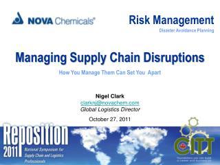 Risk Management Disaster Avoidance Planning