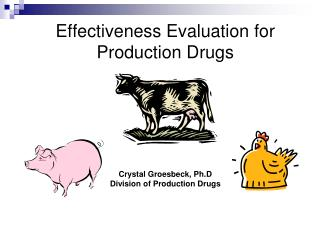 Effectiveness Evaluation for Production Drugs Crystal Groesbeck,  Ph.D Division of Production Drugs