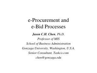 e-Procurement and  e-Bid Processes