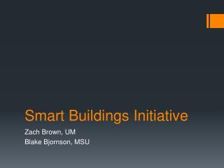 Smart Buildings Initiative
