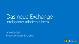 Das neue Exchange