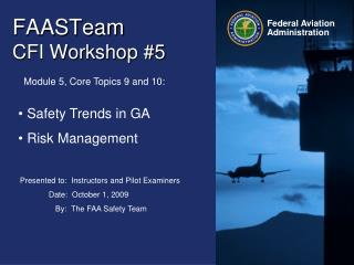 FAASTeam   CFI Workshop #5