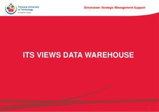 ITS Views Data Warehouse