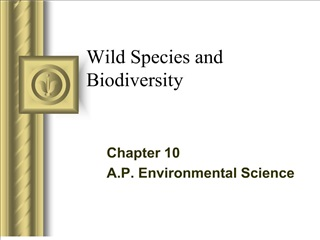 wild species and biodiversity