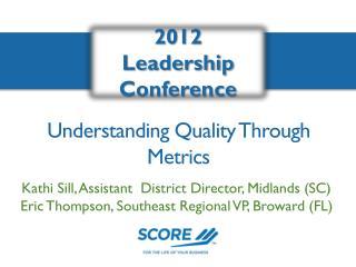 Understanding Quality Through Metrics