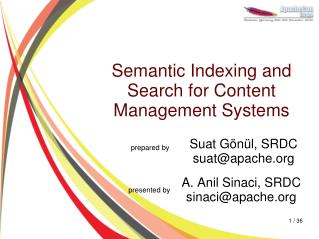 Semantic Indexing and Search for Content Management Systems