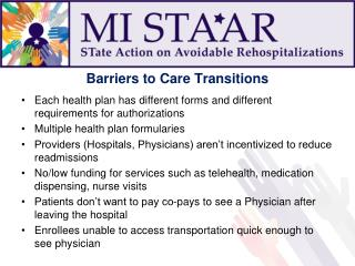 Barriers to Care Transitions