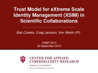 Trust Model for eXtreme Scale Identity Management (XSIM) in Scientific Collaborations