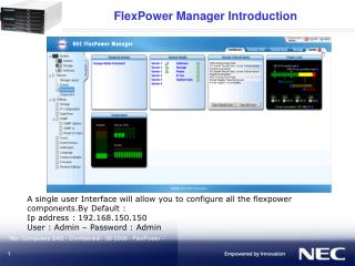 FlexPower Manager Introduction