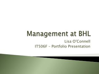 Management at BHL