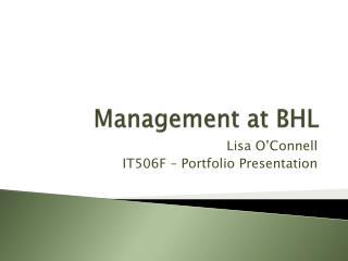 Management at BHL