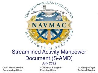 Streamlined Activity Manpower Document (S-AMD) July 2013