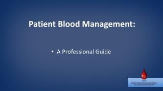 Patient Blood Management: