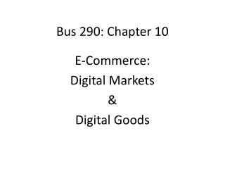 Bus 290: Chapter 10