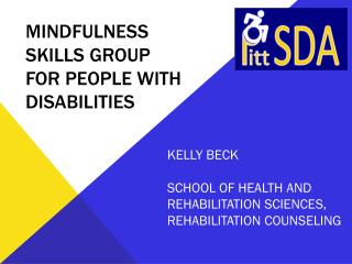 Mindfulness skills group for people with disabilities