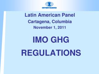 IMO GHG REGULATIONS