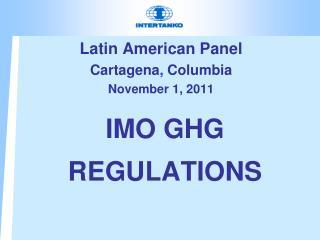 IMO GHG REGULATIONS