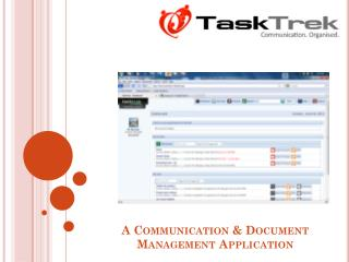 A Communication & Document Management Application