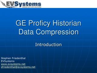ge proficy historian data compression