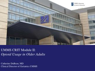 Dr. Stacie Levine, University of Chicago Pain Module, Curriculum for the Hospitalized Aged Medical Patient champ.bsd.uc