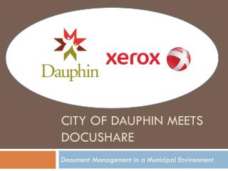 City of Dauphin Meets DocuShare