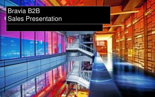 Bravia  B2B  Sales Presentation