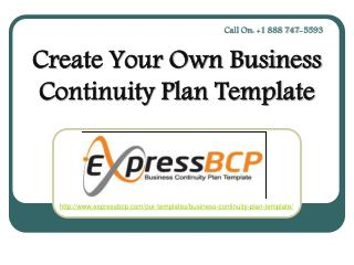 Create Your Own Business Continuity Plan Template`