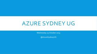 Azure  Sydney  UG