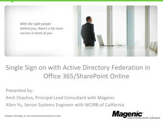 Single  Sign on with Active Directory  Federation  in Office 365/SharePoint Online