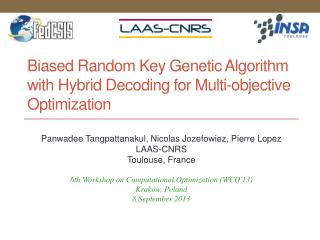 Biased Random Key Genetic Algorithm with Hybrid Decoding for Multi-objective Optimization