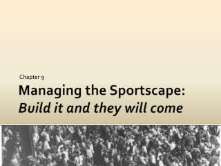 Managing the Sportscape: Build it and they will come