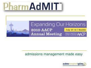 admissions management made easy