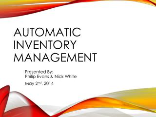 Automatic Inventory Management