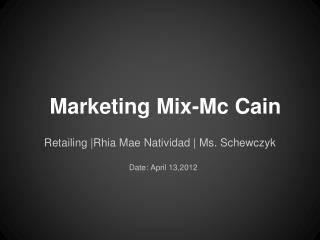 Marketing Mix-Mc Cain