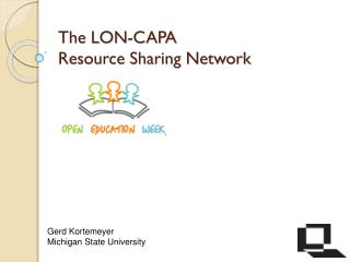 The LON-CAPA Resource Sharing Network
