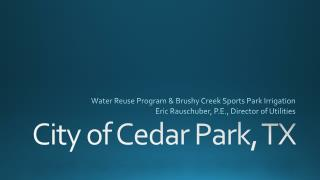 City of Cedar Park, TX